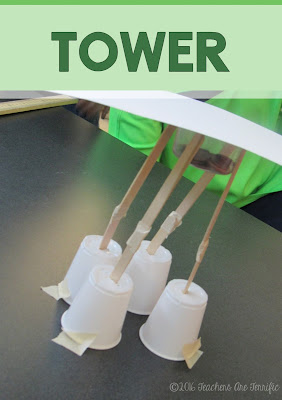 STEM Challenge Mystery Build: Each team builds something different. They must choose the materials needed for the task and stay within a budget! A tower is one of the tasks! FREEBIE!