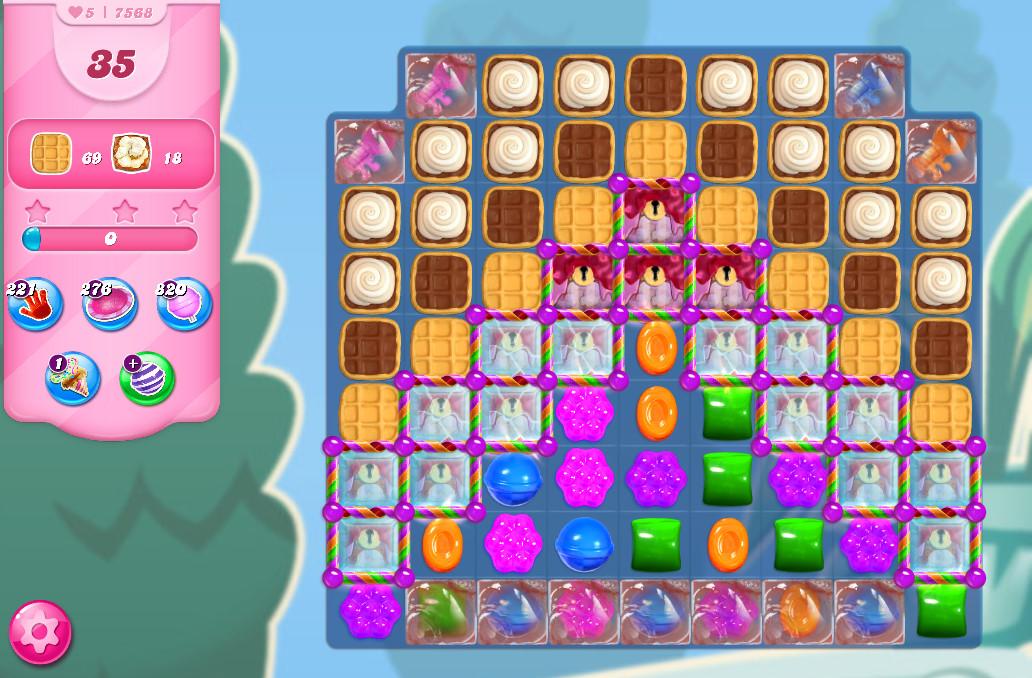 Candy Crush Saga level 7568