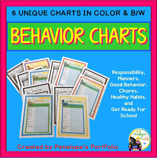 https://www.teacherspayteachers.com/Product/Behavior-Charts-Chores-Healthy-Habits-Manners-Responsibility-and-More-1950307