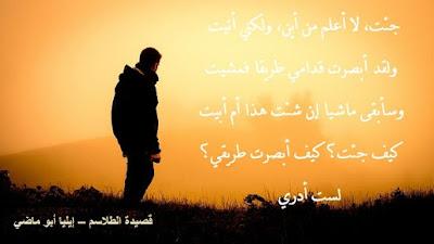 قصيدة الطلاسم – إيليا أبو ماضي