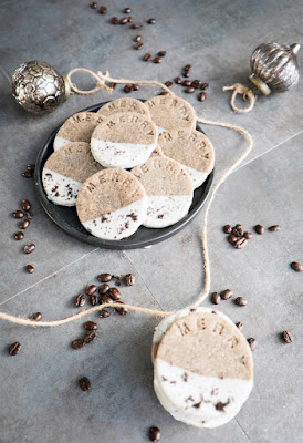 Coffee and Cream Shortbread, Holiday Cookies