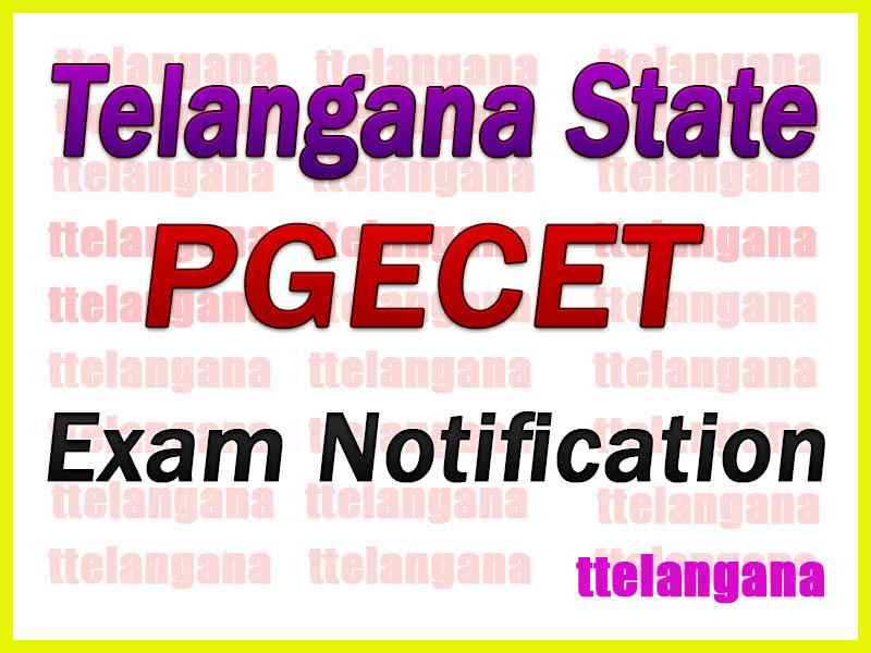 Telangana PGECET TSPGECET 2020 Notification Download