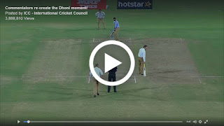 Commentators re-create the Dhoni moment
