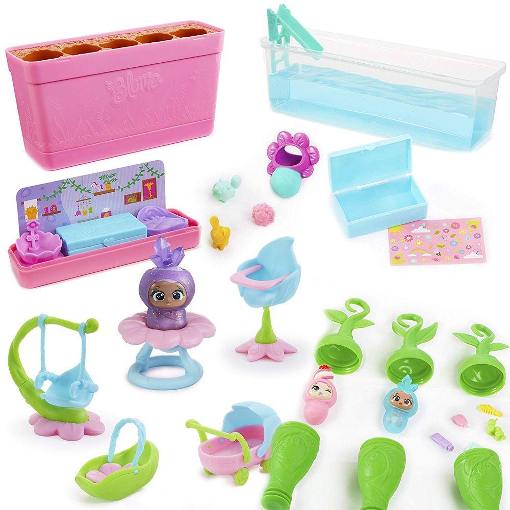 Что входит в игровой набор Blume Baby Pop 25 сюрпризов куклы Блум