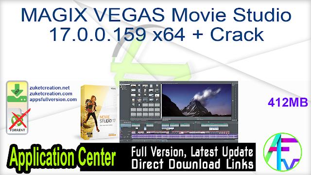 MAGIX VEGAS Movie Studio 17.0.0.159 x64 + Crack