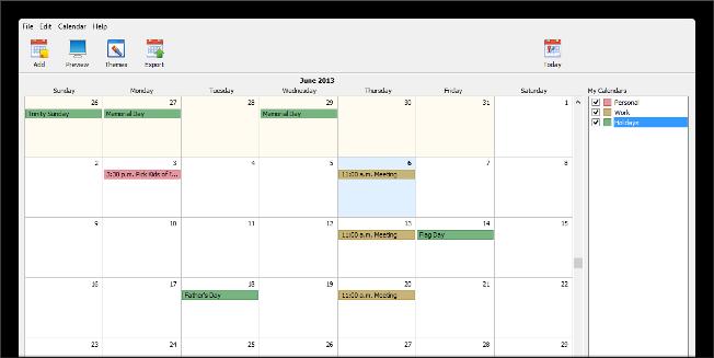 Web Calendar