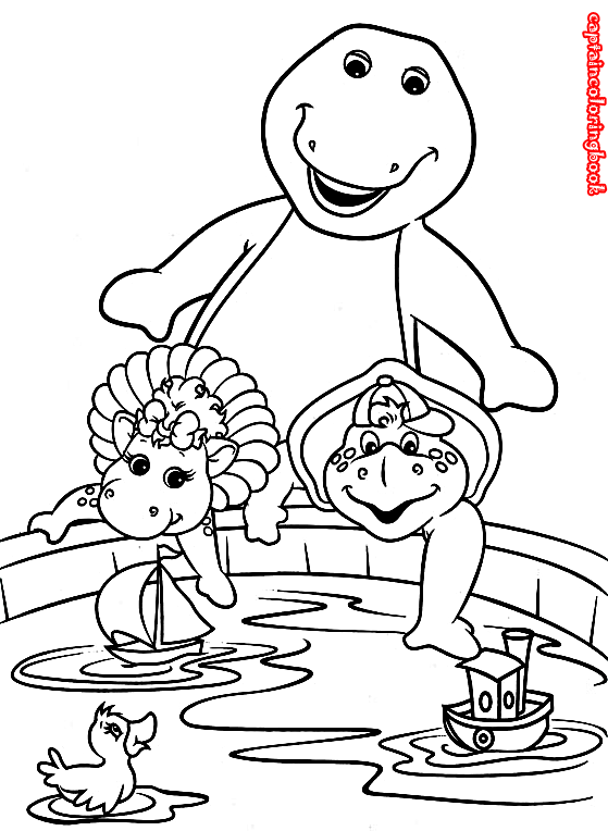 Barney and Friends coloring book /Barney und Freunde