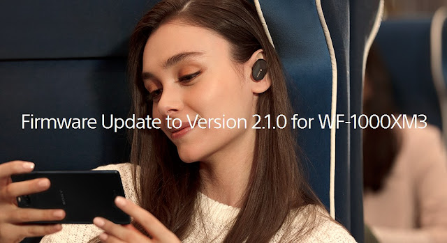 Firmware update 2.1.0 for Sony WF-1000XM3