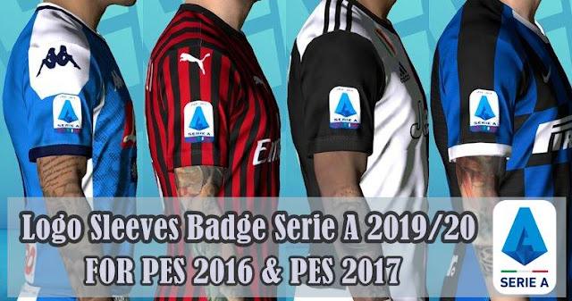 PES 2017 New Sleeves Badge Serie A 2019/20 By Haitham_3laa