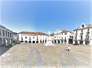 Piazza Cavour in the Piedmont town of Vercelli, where Viotti is a celebrated figure
