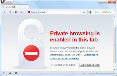 opera private browsing .
