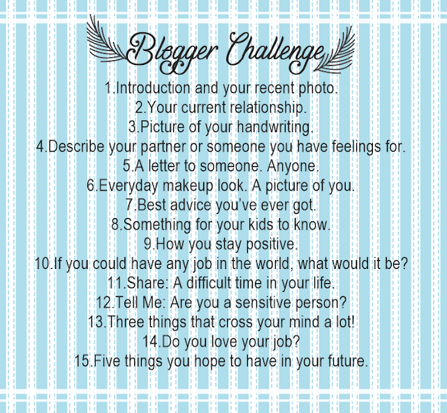 BLOGGER CHALLENGE | I CHALLENGE MYSELF TOO