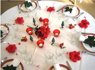 como decorar para la cena de navidad, comedor cena navidad