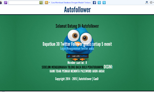 Script  Web Auto Followers Waktu [NO POINT]