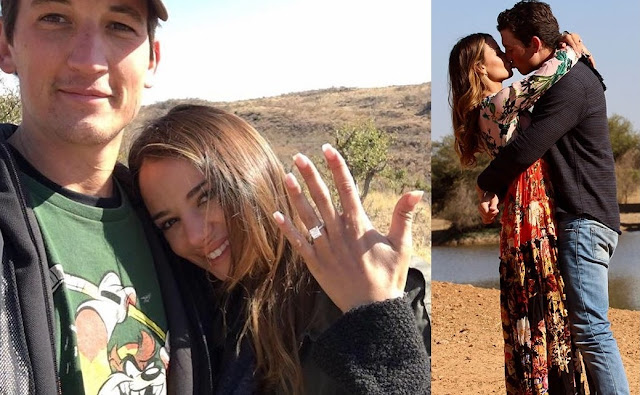 Miles Teller Proposed Keleigh Sperry in Romantic African Safari and they are finally engaged!!!