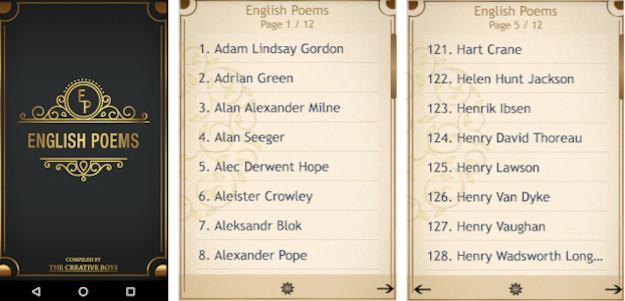 English Poems: Μία δωρεάν εφαρμογή για τους λάτρεις της ποίησης