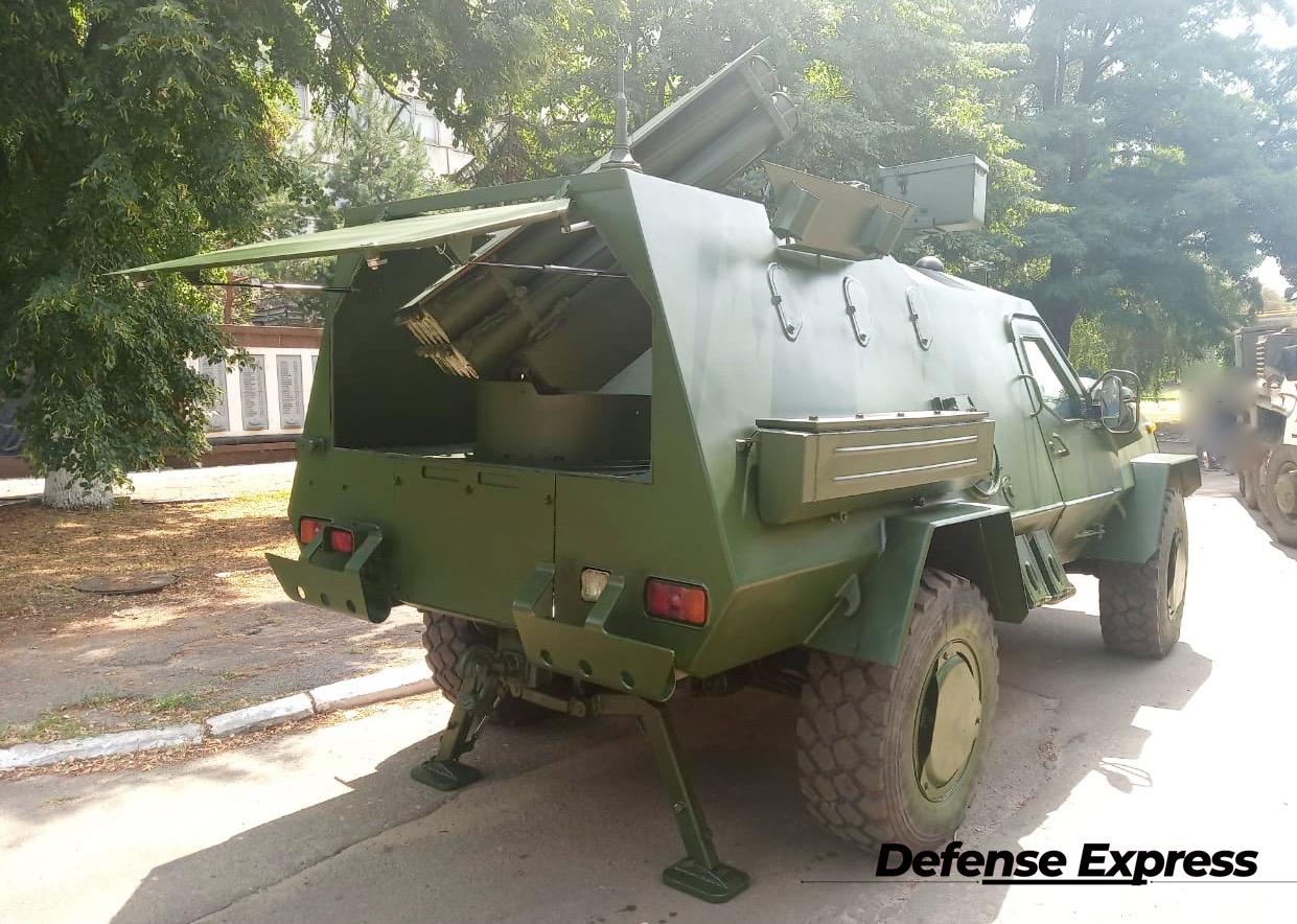 Перші фото РСЗВ Спека на базі бронемашини Дозор-Б