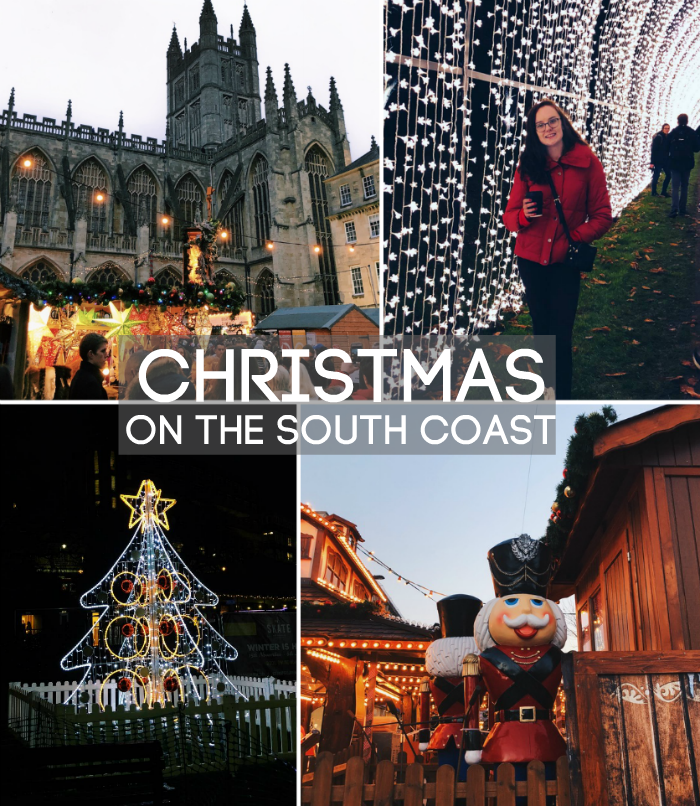 collage of christmas markets and events