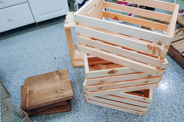 supplies for DIY locker crates