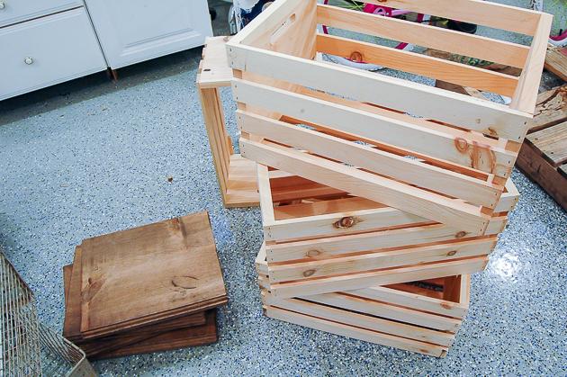 supplies for DIY locker crates