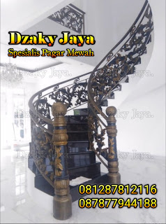 Contoh produk railing tangga layang besi tempa klasik berkualitas Dzaky Jaya
