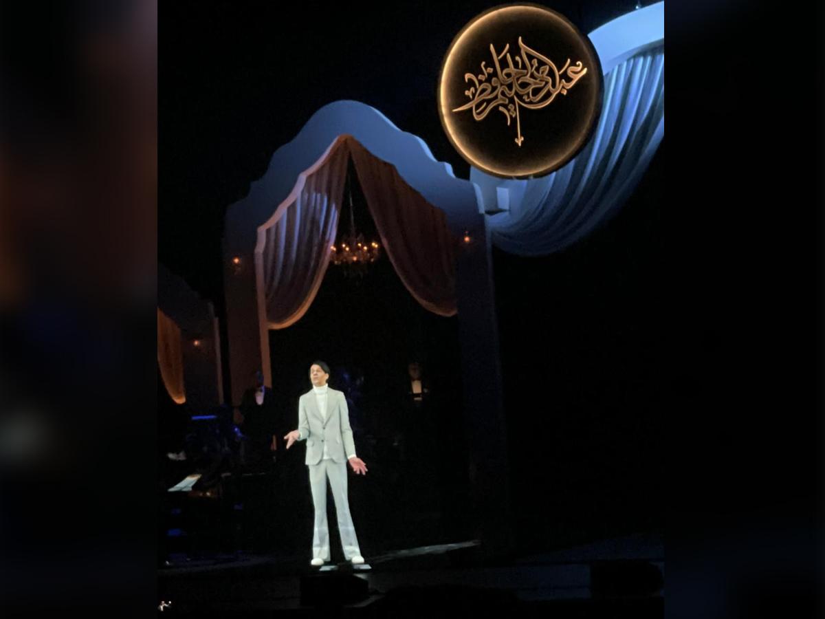 """حليم يشدو بأجمل أغانيه على خشبة """"أوبرا دبي"""""""