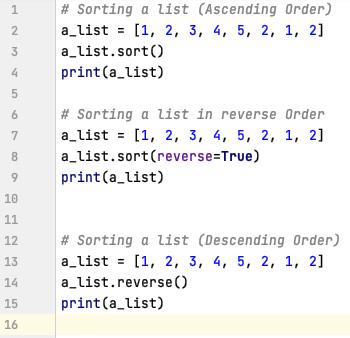 Sort a list in Python