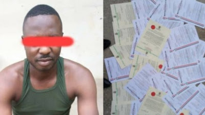 Man Nabbed For Selling Fake NSCDC Appointment Letters In Nasarawa (Photos)
