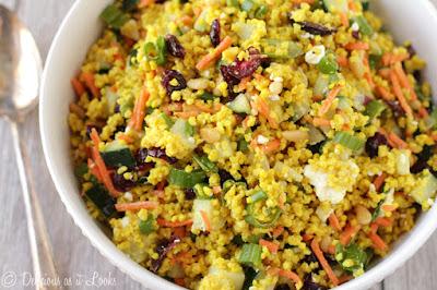 Low-FODMAP Moroccan Millet Couscous Salad  /  Delicious as it Looks