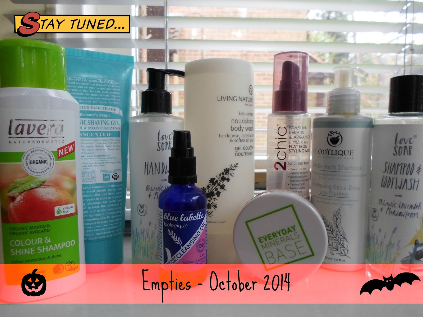 What's in my bin? Empties October 2014