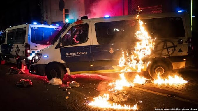 Angry Mob Set Police Van Ablaze Over Rapper's Jailing