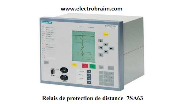 Protection de distance Siemens SIPROTEC 7SA63