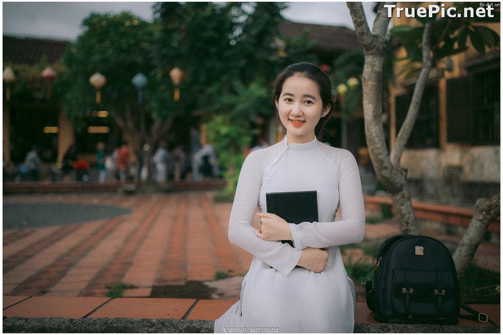 Image Vietnamese Cute Girl - Vo Xuan Chau - Ao Dai at Hoi An - TruePic.net - Picture-4