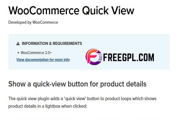 WooCommerce Quick View WordPress Plugin Free Download