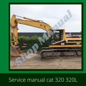 Cat 320, 320L service manual excavator Caterpillar