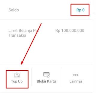 Top Up Saldo Kartu Debit Virtual Jenius
