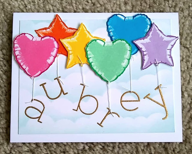 Sunny Studio Stamps: Bold Balloons Customer Card by Annalisa