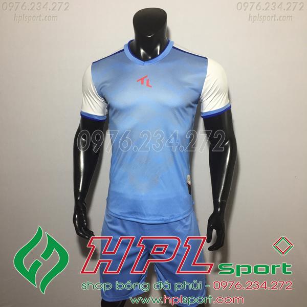 Áo bóng đá không logo TL HML Xabi  màu xanh