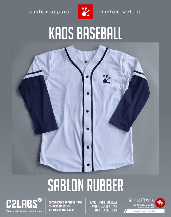 Kaos Baseball Sablon Rubber Custom - Jersey Baseball Custom