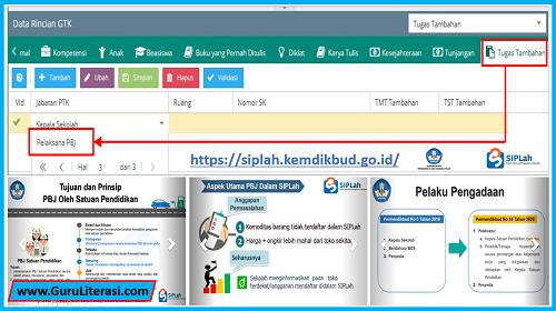 Pelaksana PBJ Pada Tugas Tambahan GTK di Aplikasi Dapodikdasmen