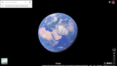 Globe on w/o satellite view