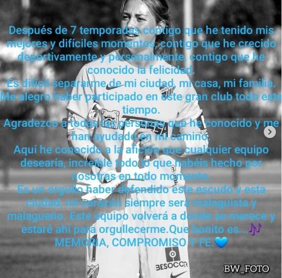 Oficial: Málaga CF Femenino, no sigue Lucía Martín