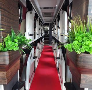 Sleeper Bus PO Sinar Jaya, Hotel Berjalan Via Tol Trans Jawa