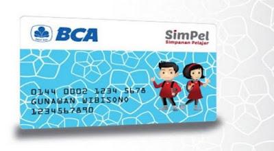 gmbar bentuk macam model rupa kartu atm/debit bca