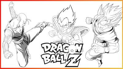 Imágenes de dragón ball z para dibujar y colorear