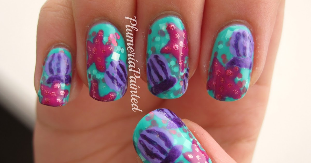 PlumeriaPainted: Seashell and Starfish Nail Art