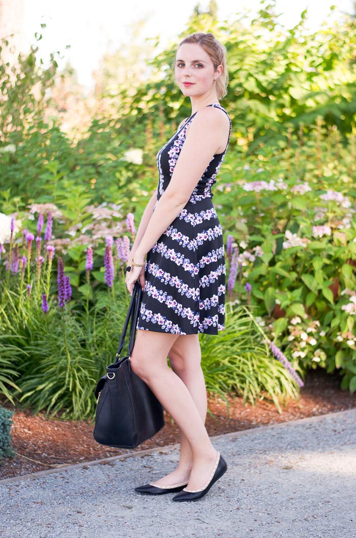 H&M Floral Dress, Pretty Floral Spring Dress, Vancouver Style Blog, Vancouver Fashion Blog, Vancouver Beauty blog, Vancouver Health Blog,