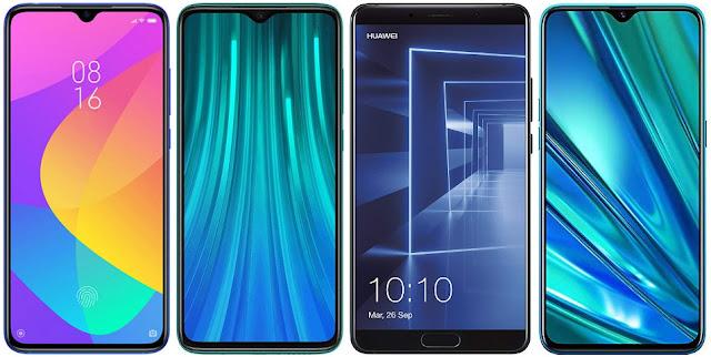 Xiaomi Mi 9 Lite vs Xiaomi Redmi Note 8 Pro vs Huawei Mate 10 vs Realme 5 Pro