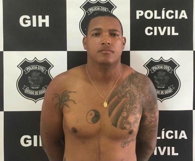 Autor de homicídio ocorrido em Anápolis é preso em Aparecida