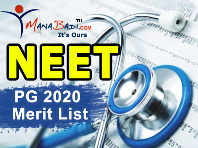 NEET PG 2020 All India 50 Percent Quota Merit List